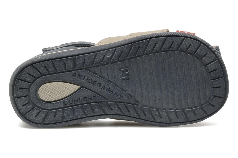 Sandales et nu-pieds Bopy ZALBANO Bleu vue haut
