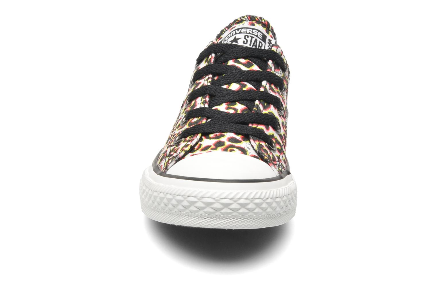 Baskets Converse Chuck Taylor All Star Animal Print Ox K Multicolore vue portées chaussures