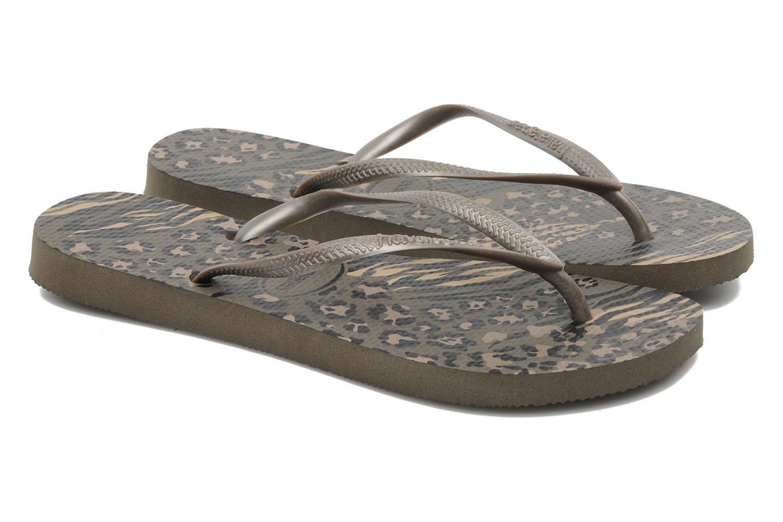 Slippers Havaianas Slim Animals Zilver 3/4'