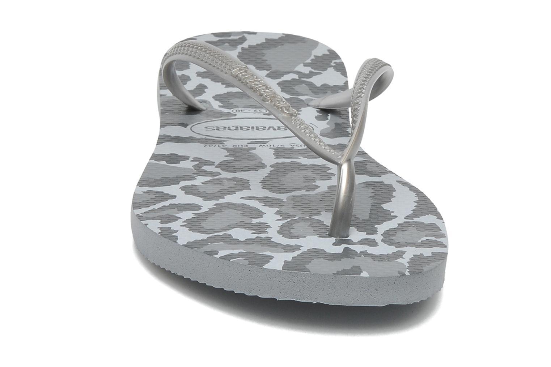 Flip flops Havaianas Slim Animals Grey model view