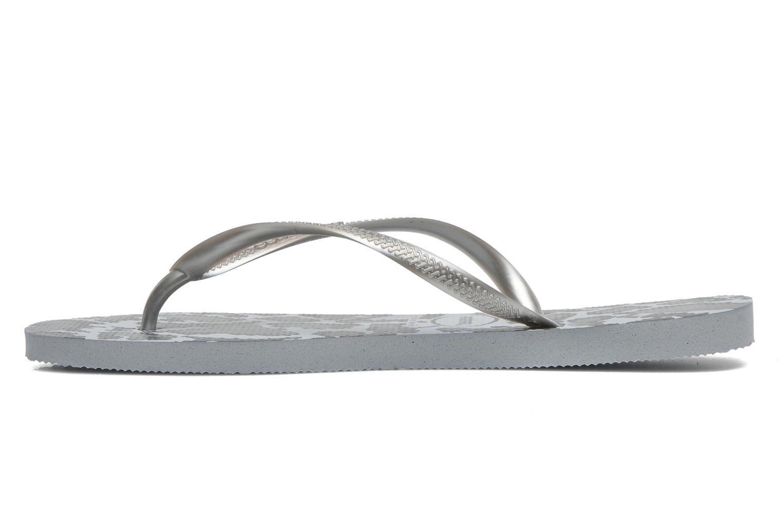 Flip flops Havaianas Slim Animals Grey front view
