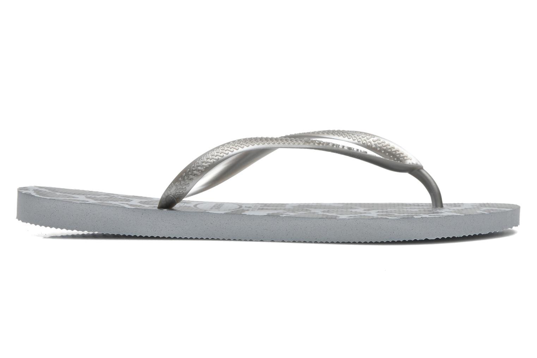 Flip flops Havaianas Slim Animals Grey back view