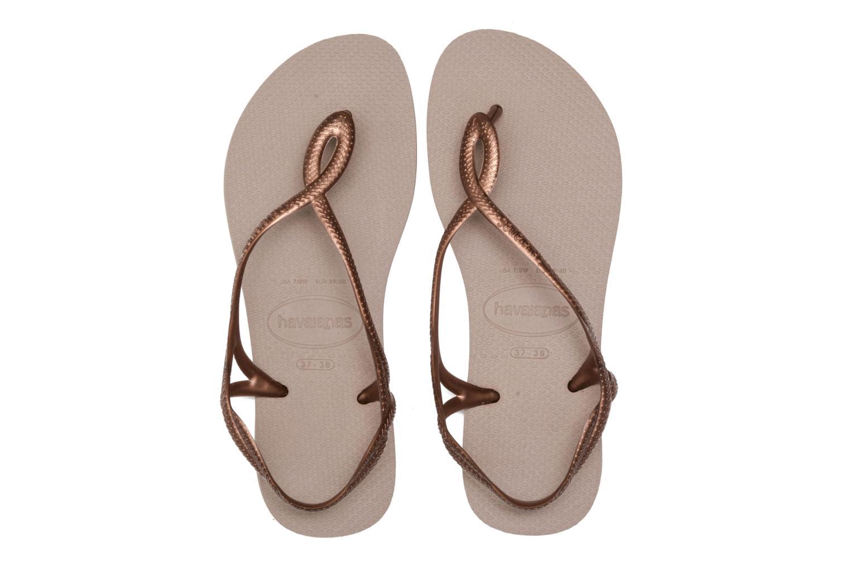 Sandales et nu-pieds Havaianas Luna Or et bronze vue 3/4