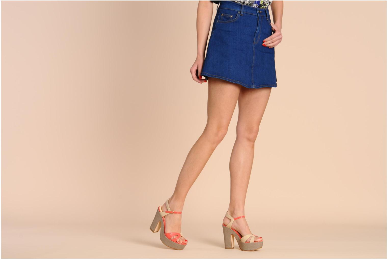 Sandales et nu-pieds Liu Jo Olimpia Monoblocco Beige vue bas / vue portée sac