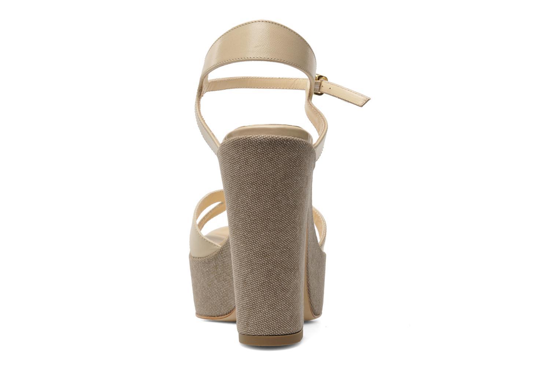 Sandales et nu-pieds Liu Jo Olimpia Monoblocco Beige vue droite
