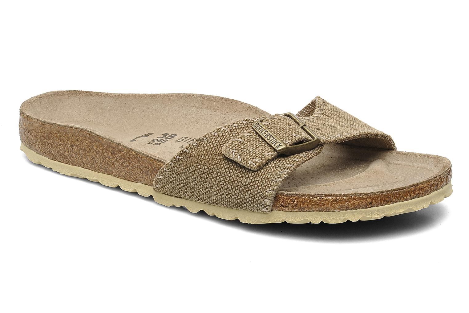 Mules & clogs Birkenstock Madrid Textile Lin W Beige detailed view/ Pair  view