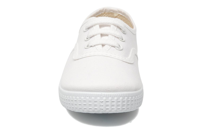 Baskets Victoria Inglesa Lona Blanc vue portées chaussures
