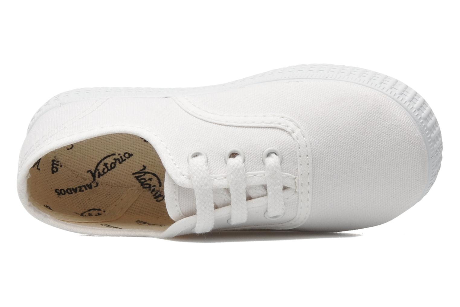 Trainers Victoria Inglesa Lona White view from the left