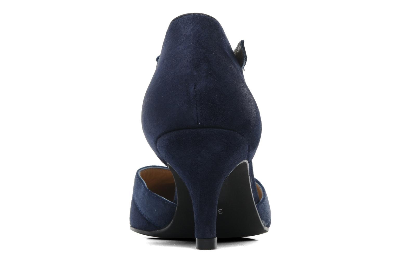Zapatos de tacón Georgia Rose Titine Azul vista lateral derecha