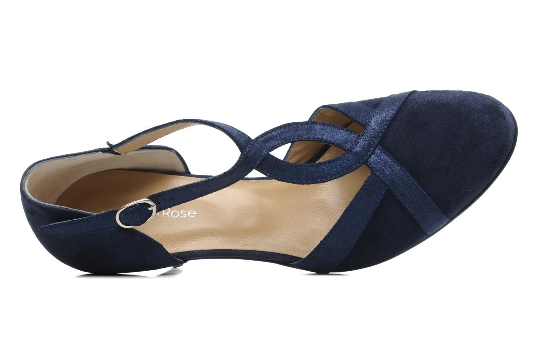 Zapatos de tacón Georgia Rose Titine Azul vista lateral izquierda