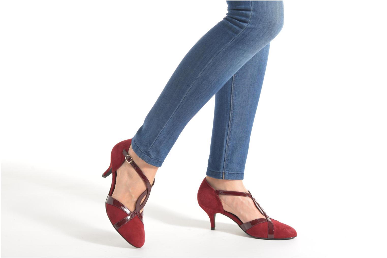 Zapatos de tacón Georgia Rose Titine Vino vista de abajo