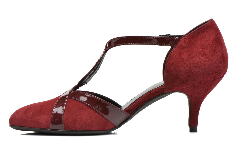 Zapatos de tacón Georgia Rose Titine Vino vista de frente