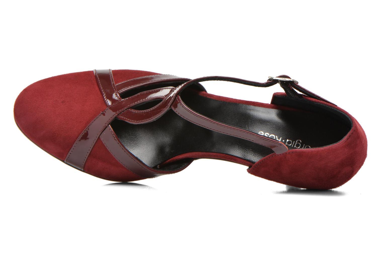 Zapatos de tacón Georgia Rose Titine Vino vista lateral izquierda