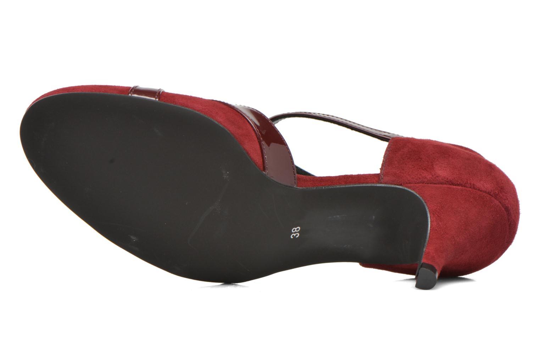 Zapatos de tacón Georgia Rose Titine Vino vista de arriba