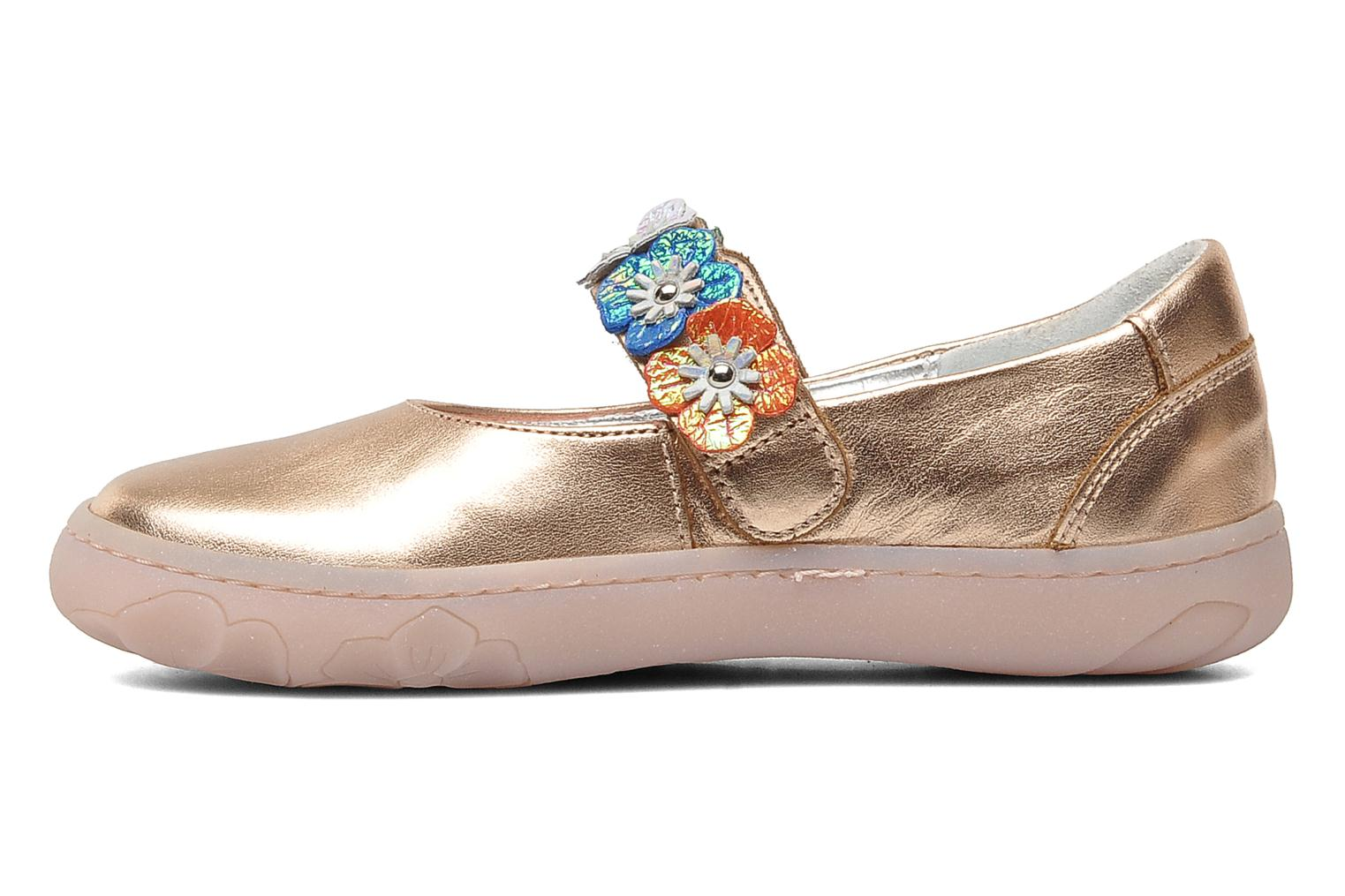 MAPLE VELCRO SANDAL BLUE/ROSE/CORAIL