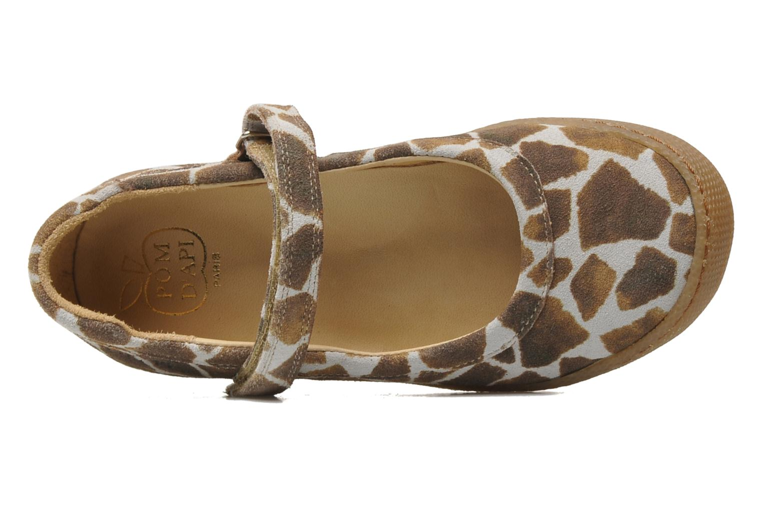 Ballet pumps Pom d Api NEW SCHOOL BABY Brown view from the left