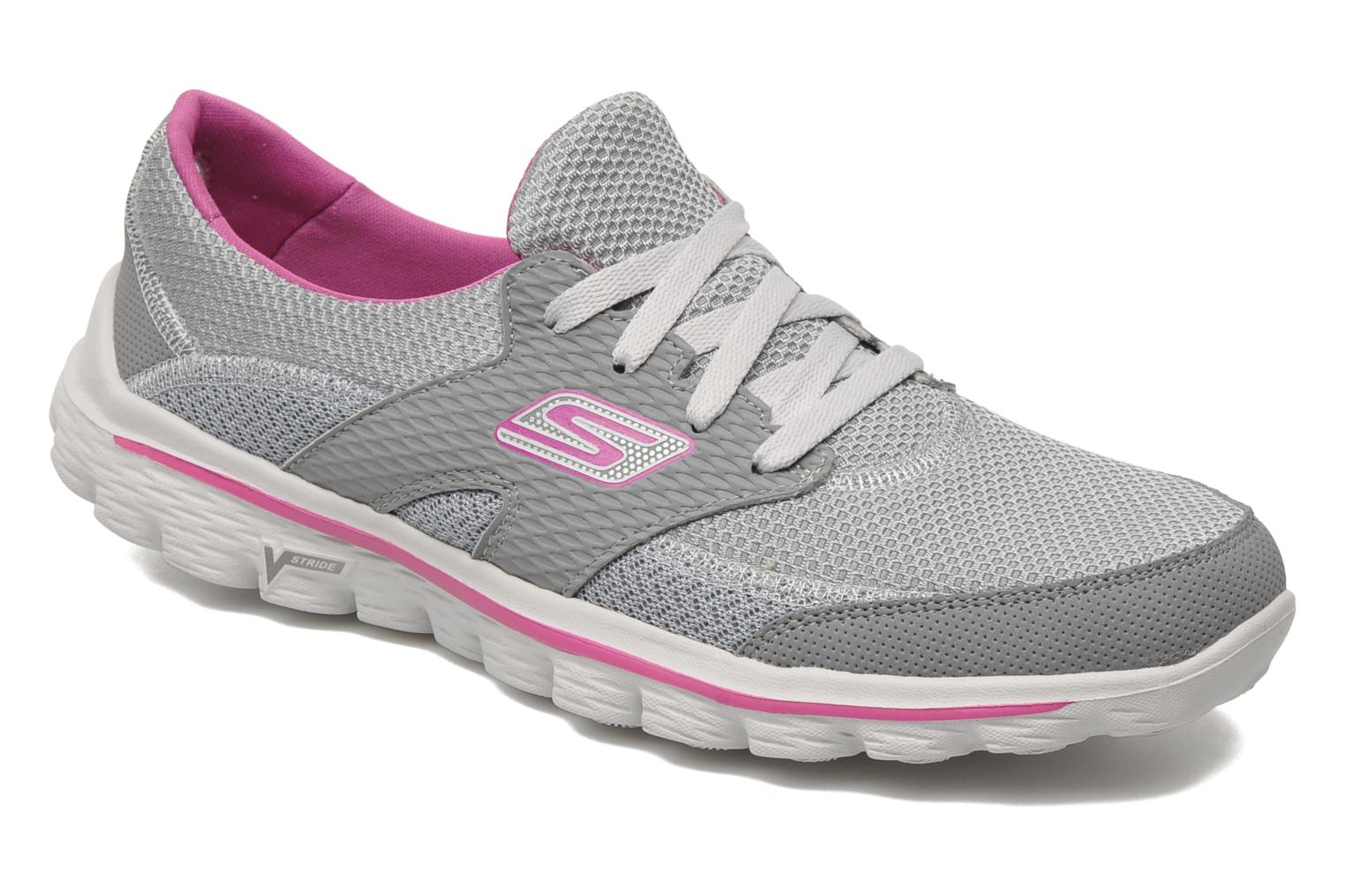 Sport shoes Skechers Go Walk 2Stance 13592 Grey detailed view/ Pair view