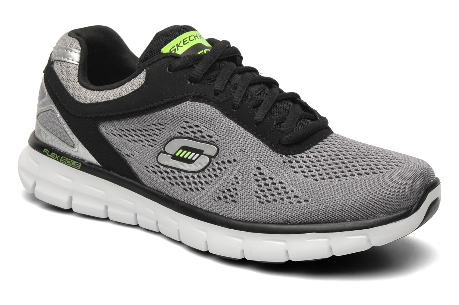 Sport shoes Skechers Synergy Power Shield Grey detailed view/ Pair view