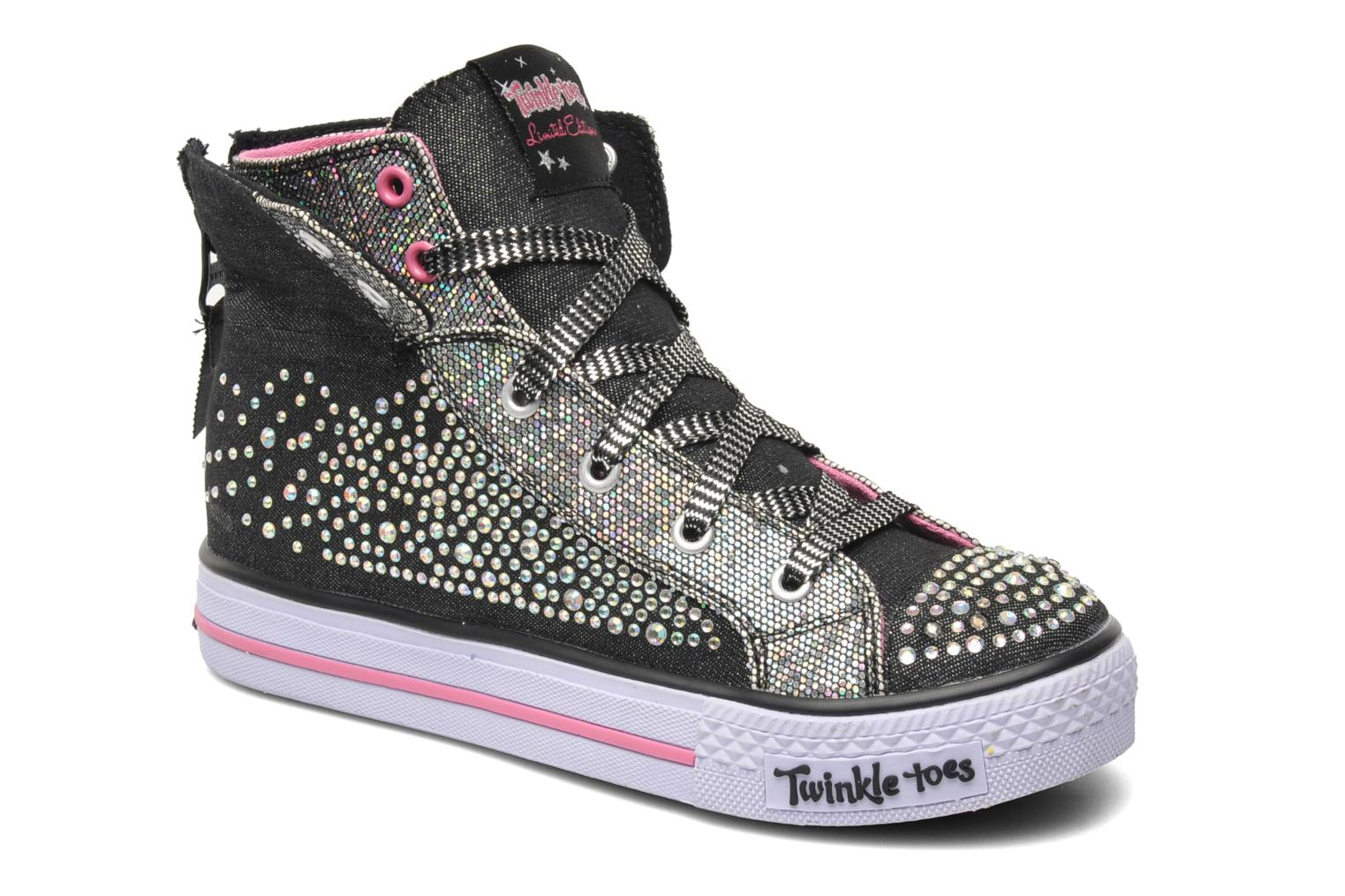 Sneakers Skechers Shuffles Rock n' Beauty Sort 3/4 billede