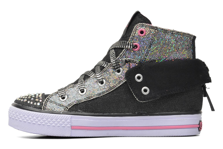 Sneakers Skechers Shuffles Rock n' Beauty Zwart voorkant