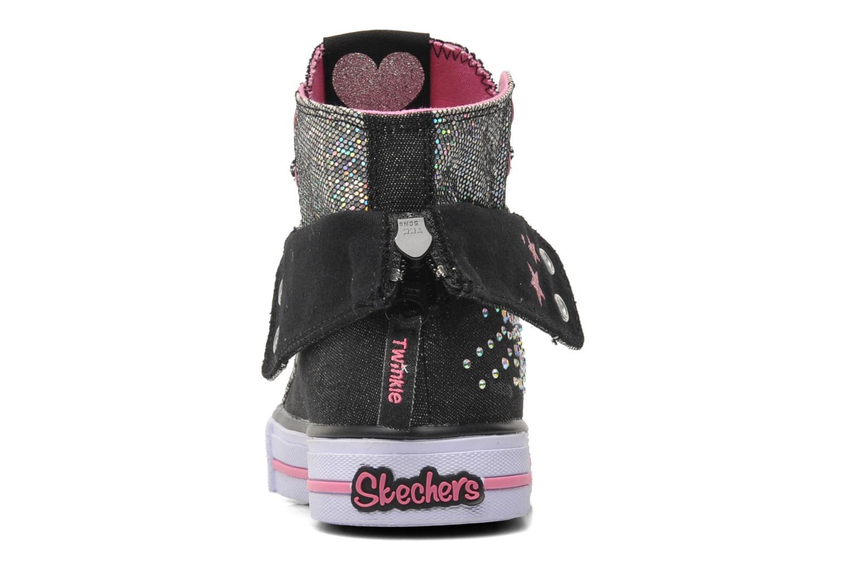 Baskets Skechers Shuffles Rock n' Beauty Noir vue droite