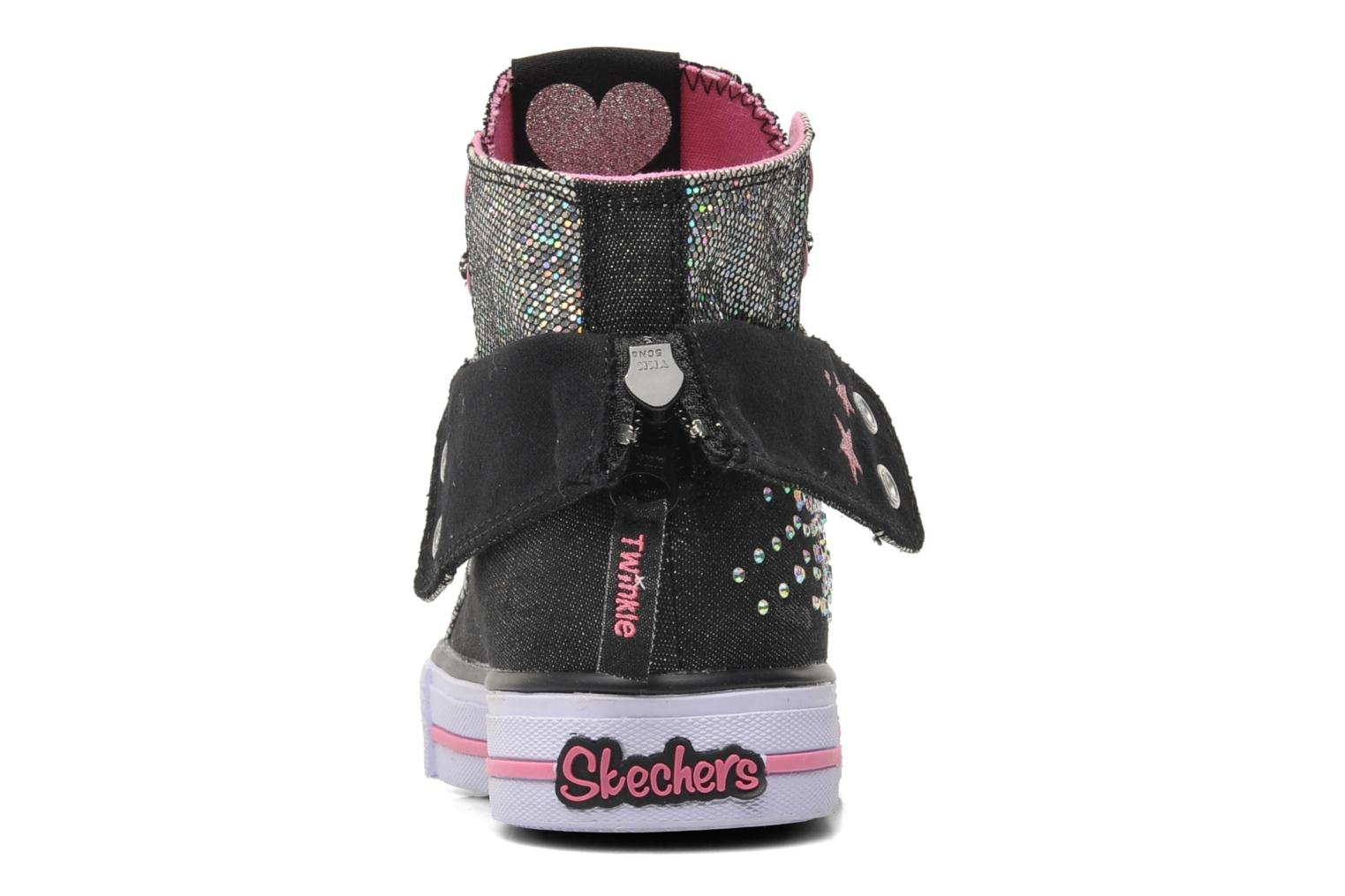 Trainers Skechers Shuffles Rock n' Beauty Black view from the right