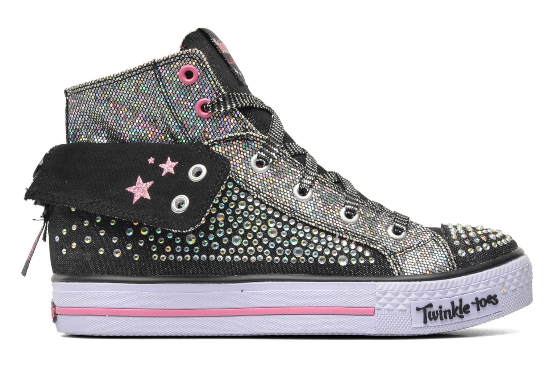 Sneakers Skechers Shuffles Rock n' Beauty Zwart achterkant