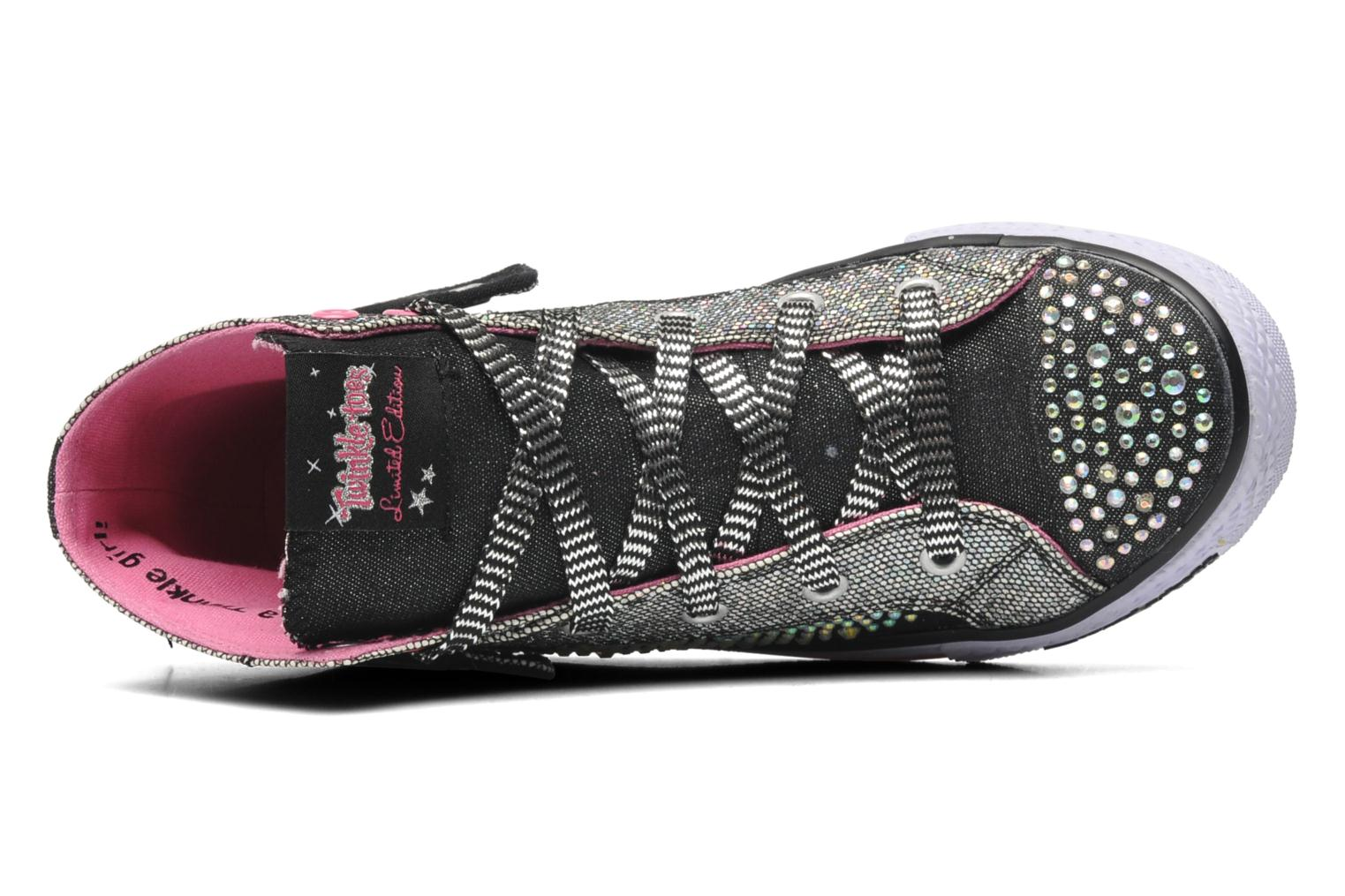Trainers Skechers Shuffles Rock n' Beauty Black view from the left