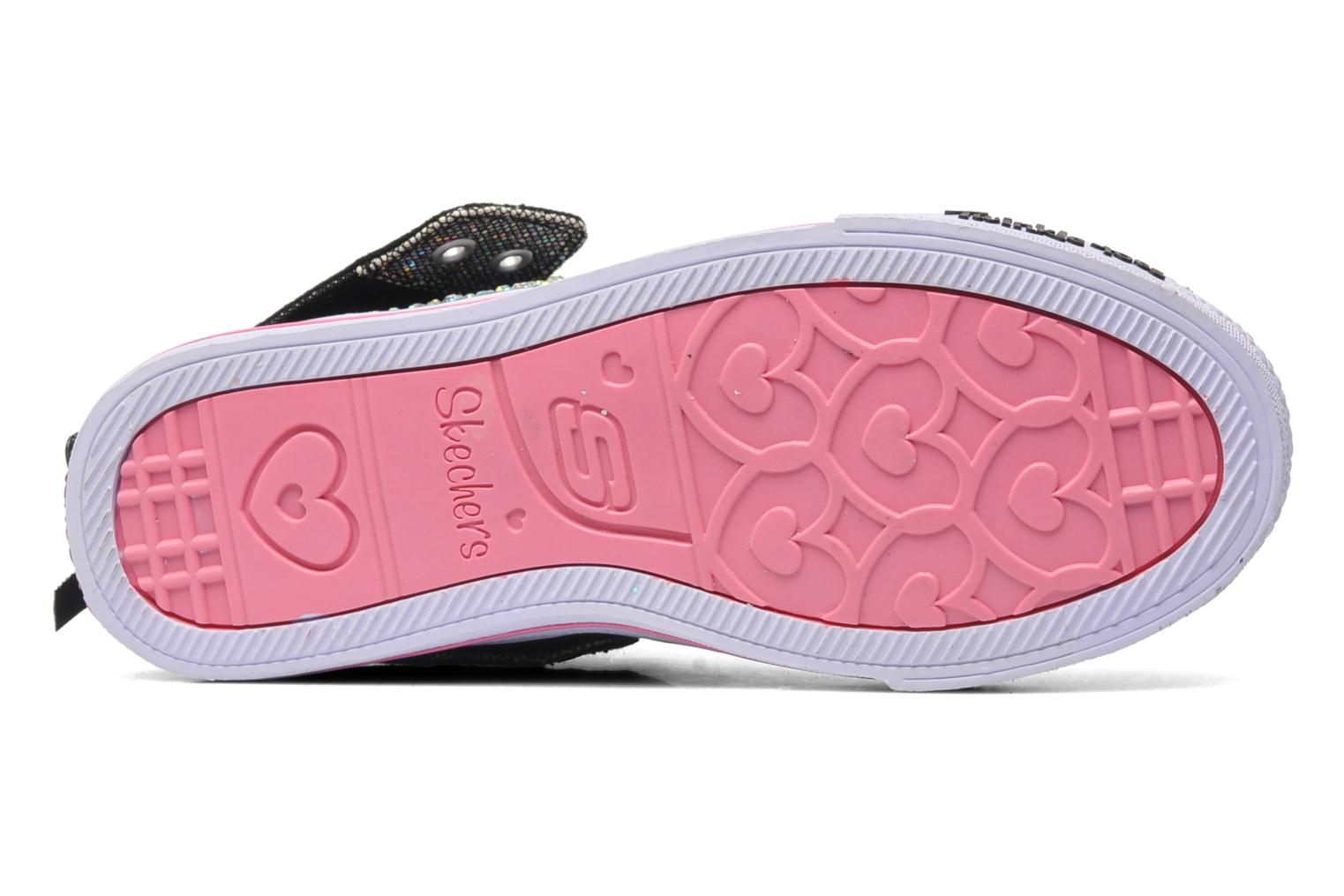 Trainers Skechers Shuffles Rock n' Beauty Black view from above