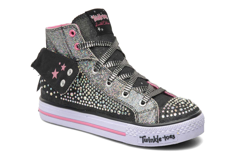 Sneakers Skechers Shuffles Rock n' Beauty Zwart detail