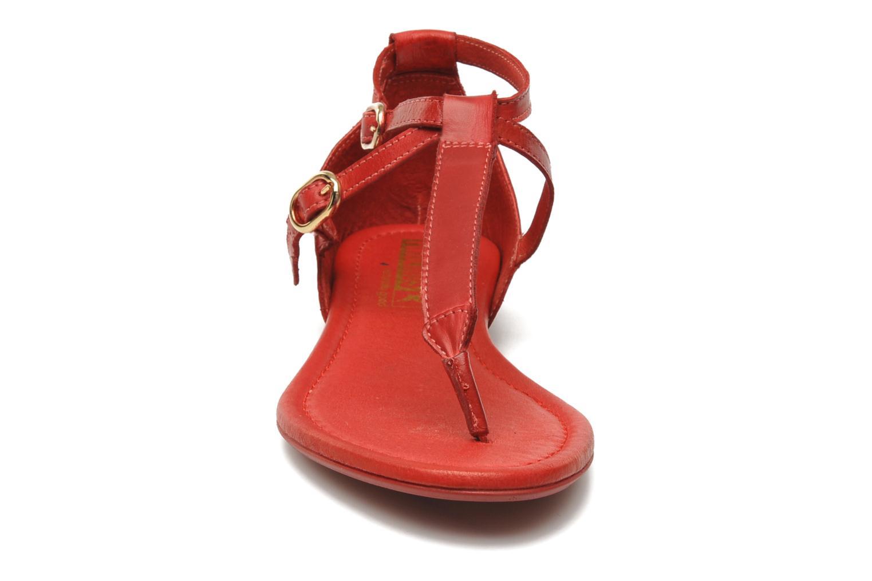 Sandalen Pikolinos Formentera 7350N rot schuhe getragen