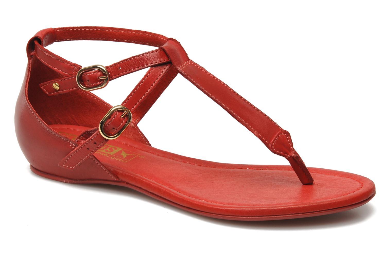 Sandalen Pikolinos Formentera 7350N rot detaillierte ansicht/modell