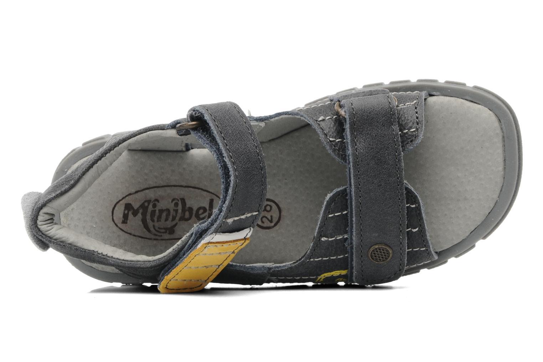 Sandales et nu-pieds Minibel Georges Gris vue gauche