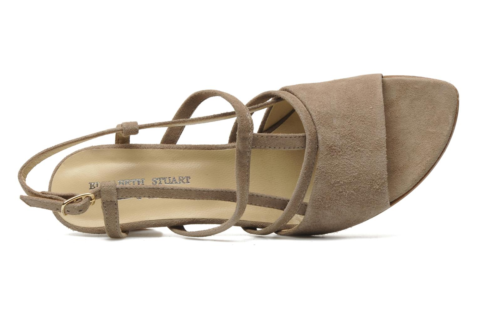 Sandals Elizabeth Stuart Bamby 300 Beige view from the left