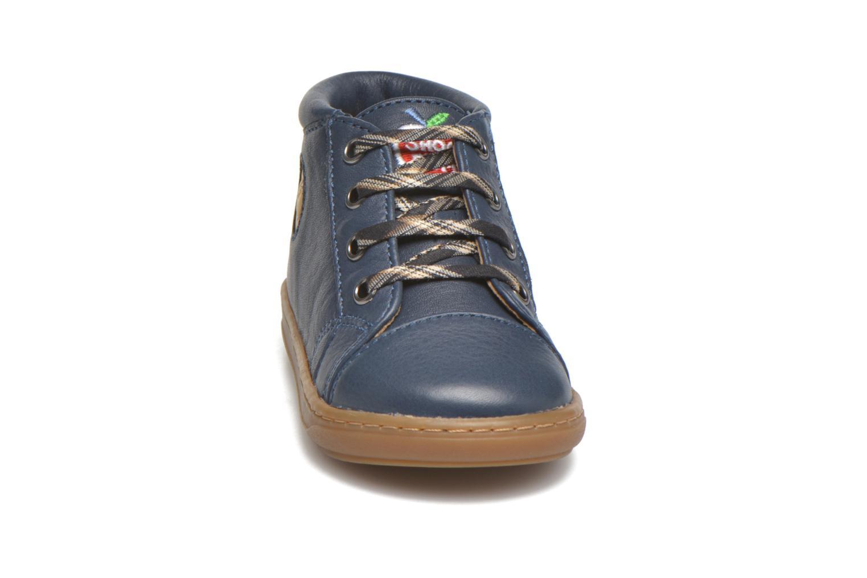 Bottines et boots Shoo Pom Bouba Pad Lace Bleu vue portées chaussures