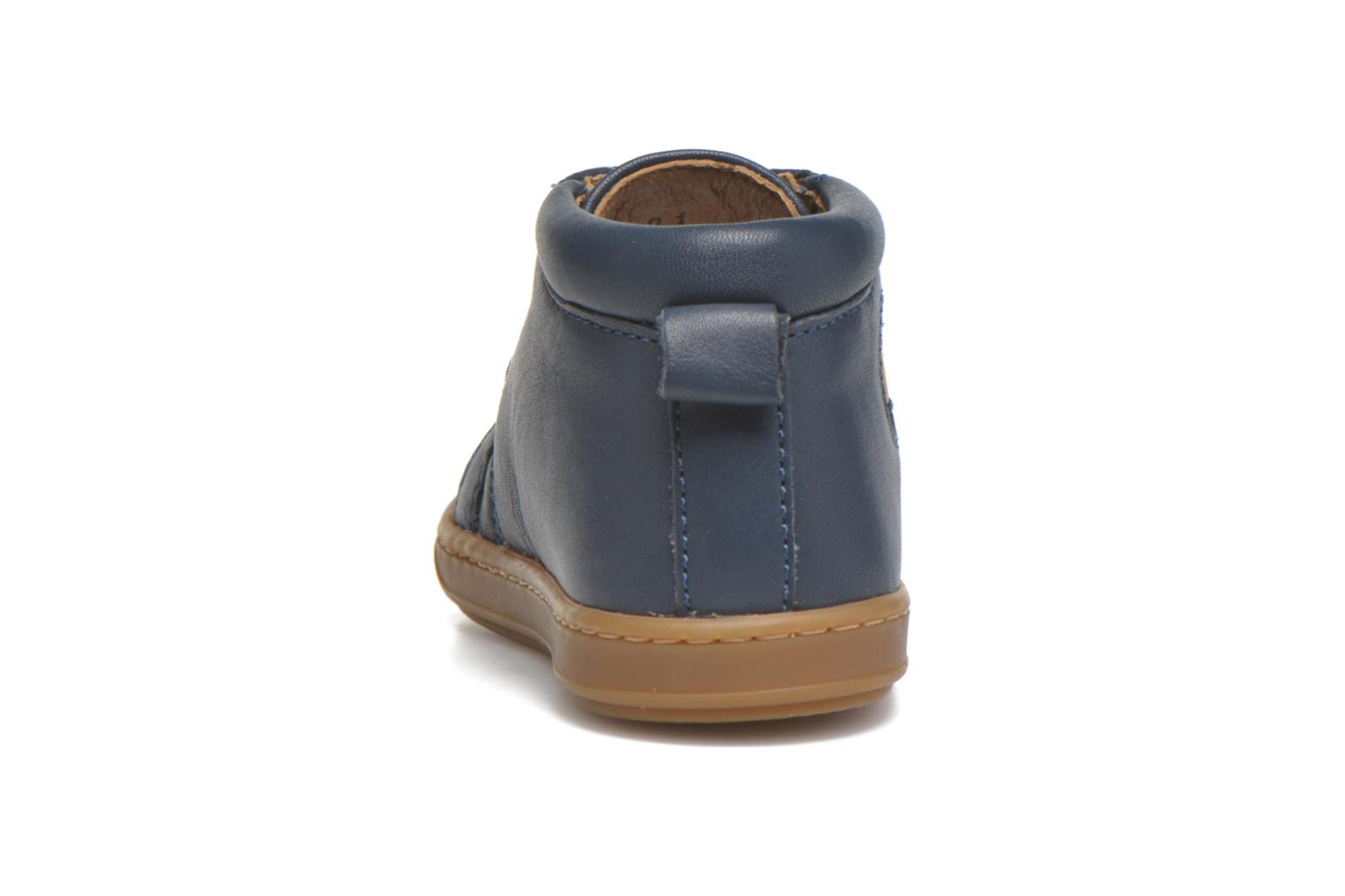 Ankle boots Shoo Pom Bouba Pad Lace Blue view from the right