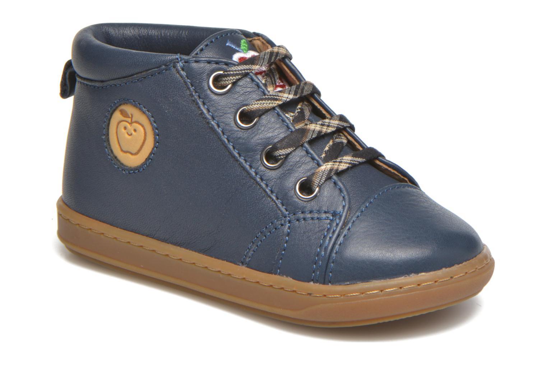 Bottines et boots Shoo Pom Bouba Pad Lace Bleu vue détail/paire
