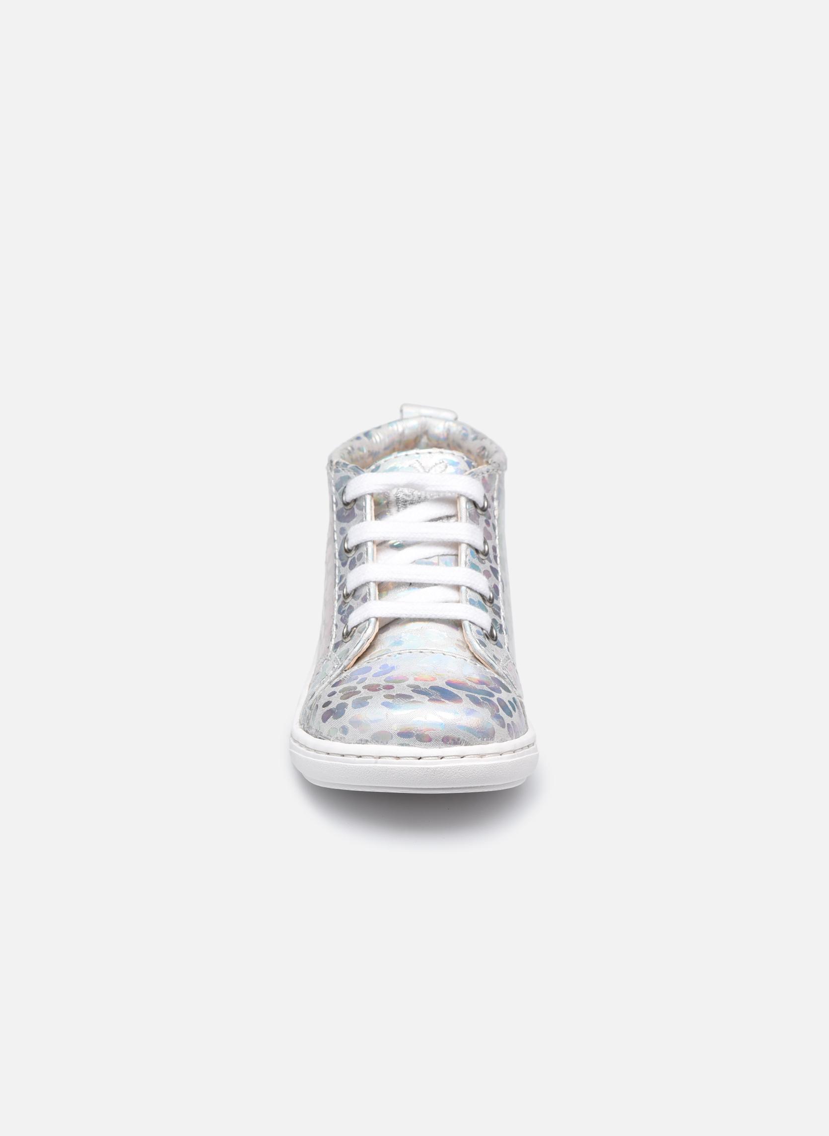 Bottines et boots Shoo Pom Bouba Pad Lace Argent vue portées chaussures
