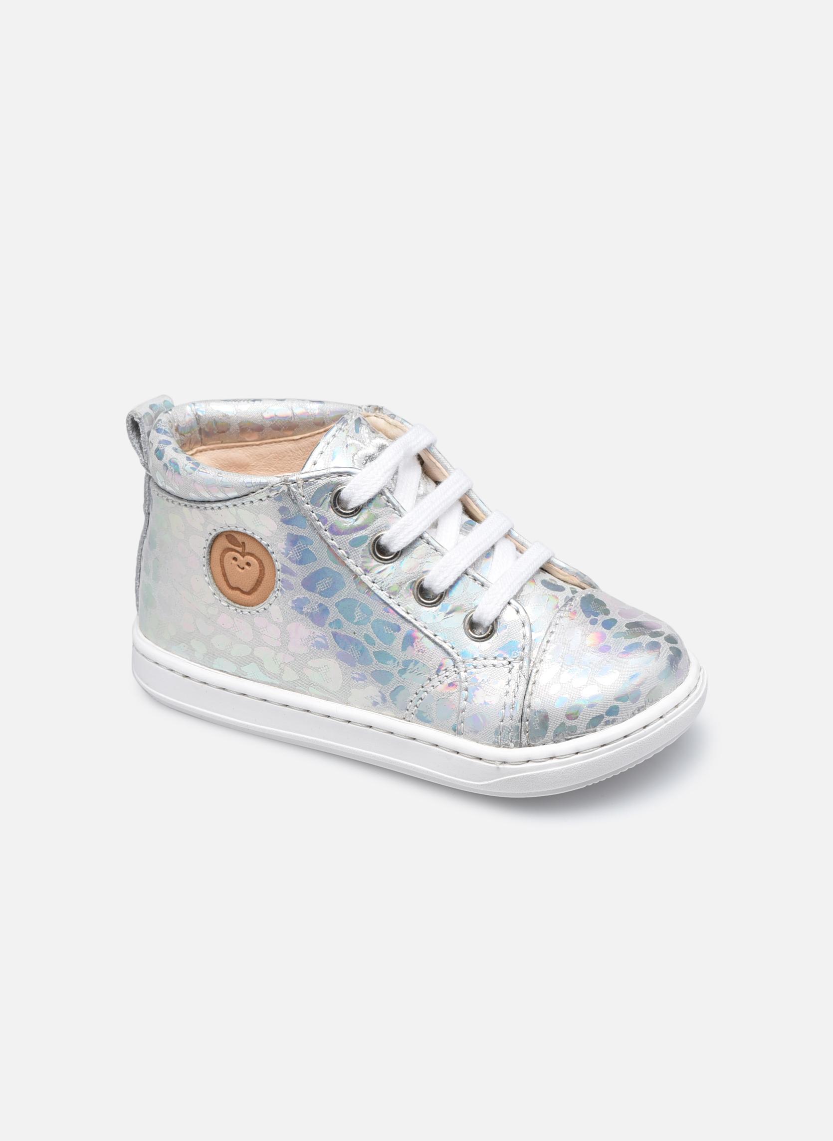 Bottines et boots Shoo Pom Bouba Pad Lace Argent vue détail/paire