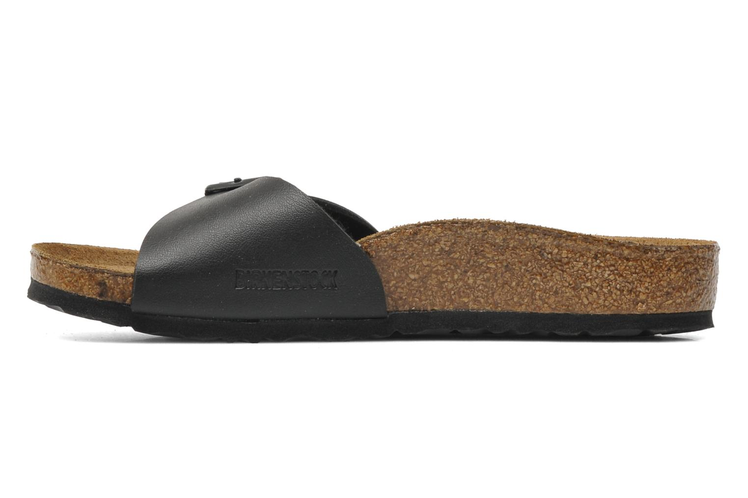 Sandals Birkenstock Madrid Birko Flor Black front view