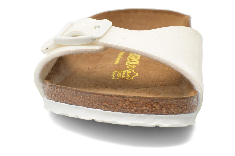 Sandalen Birkenstock Madrid Birko Flor weiß schuhe getragen