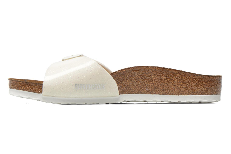 Sandalen Birkenstock Madrid Birko Flor weiß ansicht von vorne