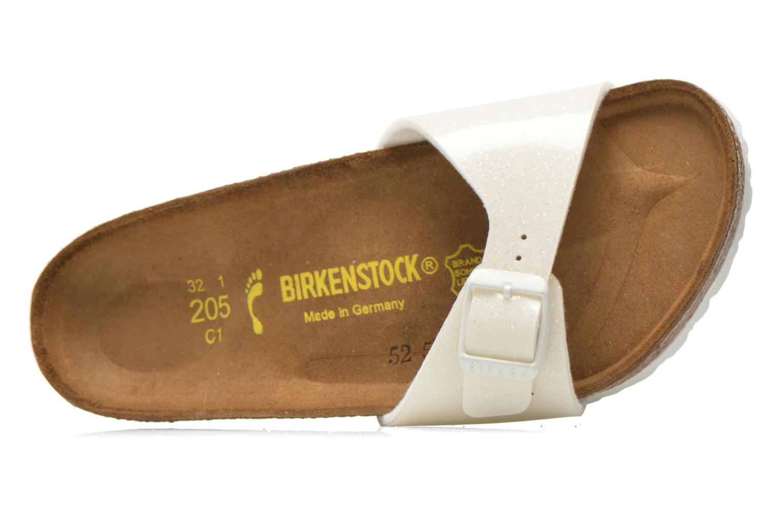 Sandals Birkenstock Madrid Birko Flor White view from the left