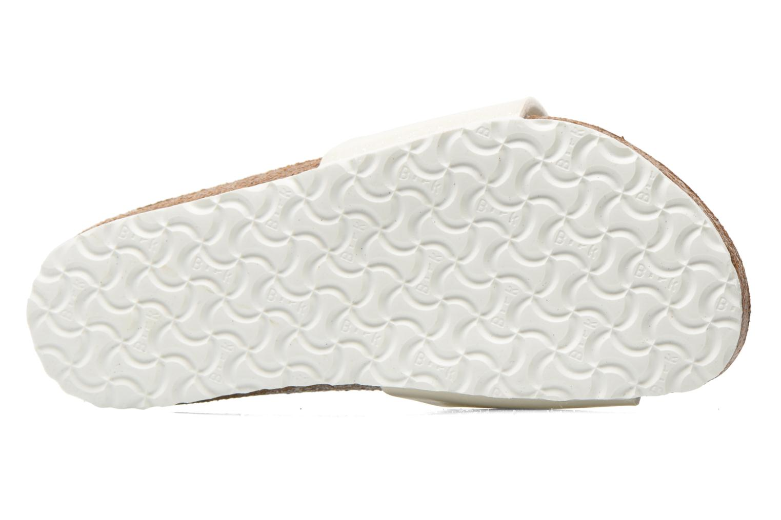 Sandals Birkenstock Madrid Birko Flor White view from above