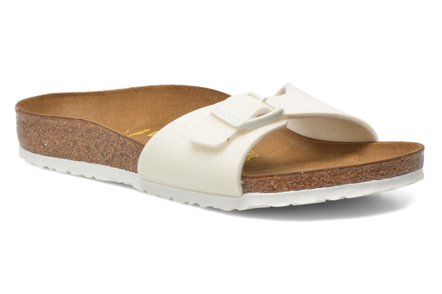 Sandals Birkenstock Madrid Birko Flor White detailed view/ Pair view