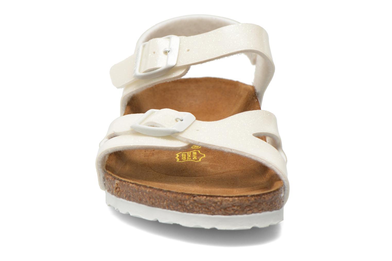 Sandals Birkenstock Rio Birko Flor White model view