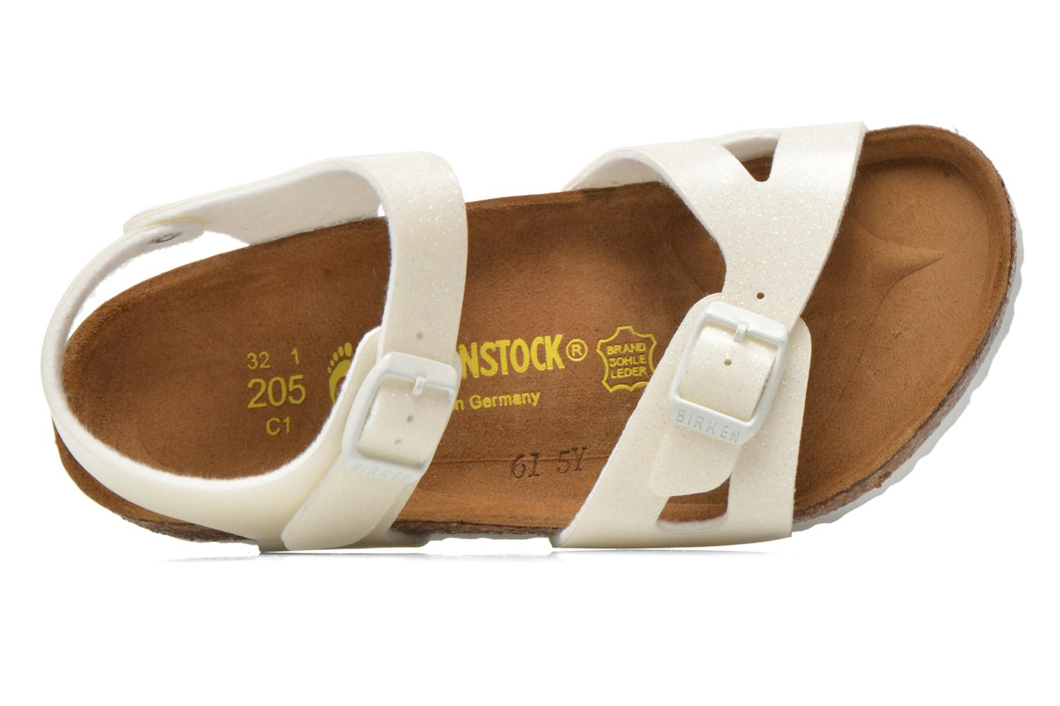 Sandals Birkenstock Rio Birko Flor White view from the left