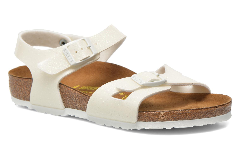 Sandaler Birkenstock Rio Birko Flor Hvid detaljeret billede af skoene