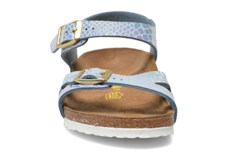 Sandals Birkenstock Rio Birko Flor Blue model view