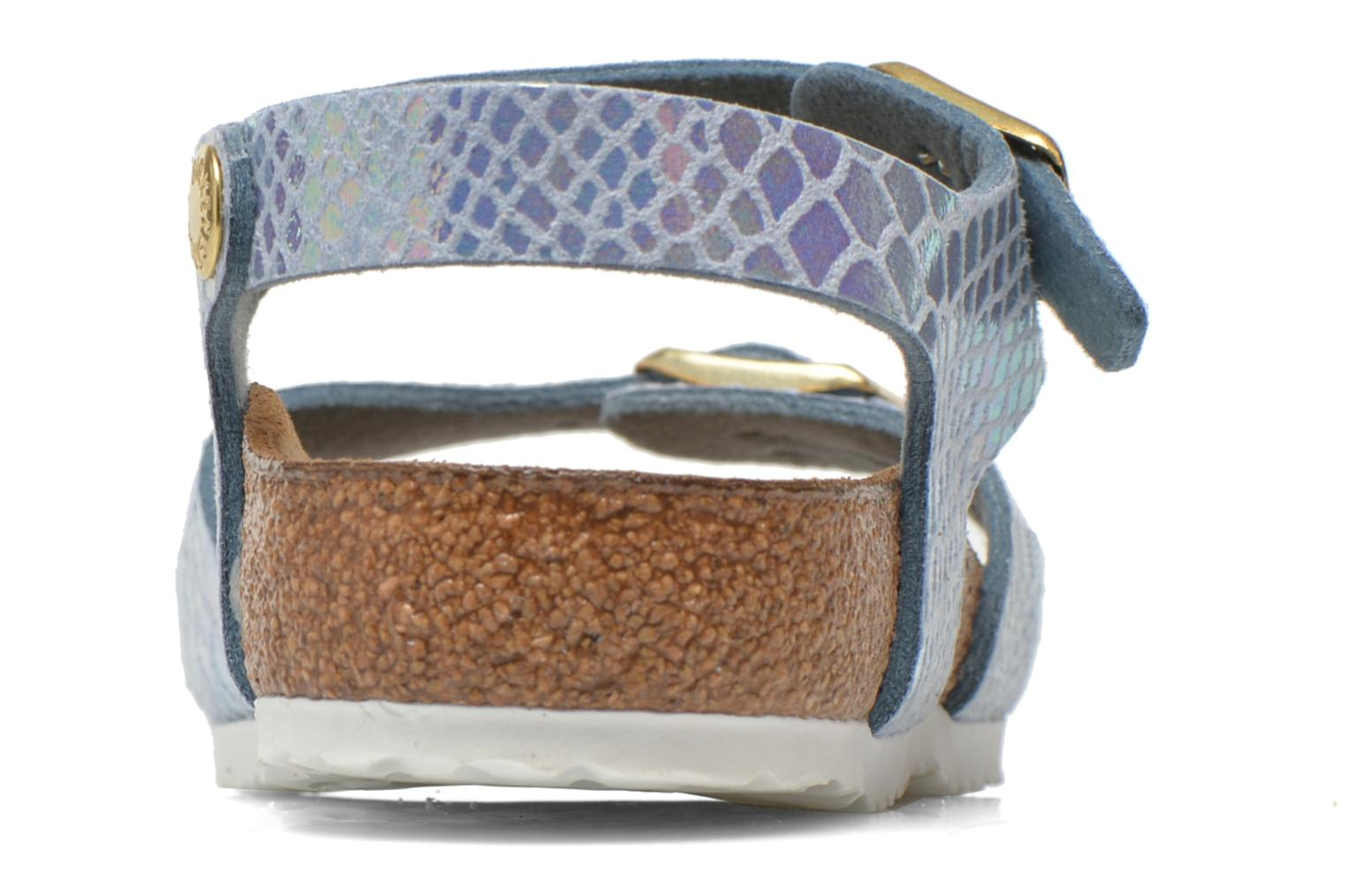 Sandals Birkenstock Rio Birko Flor Blue view from the right